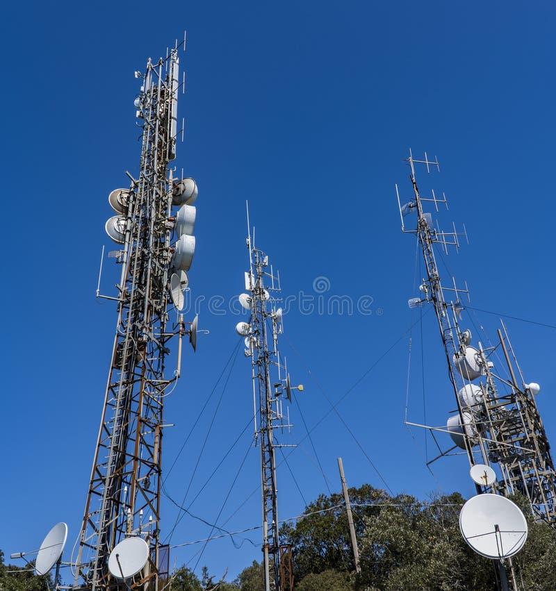 Radio draadloze antennes stock afbeeldingen