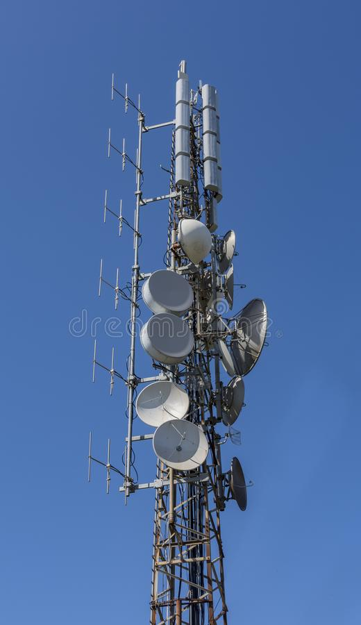 Radio draadloze antennes royalty-vrije stock foto's