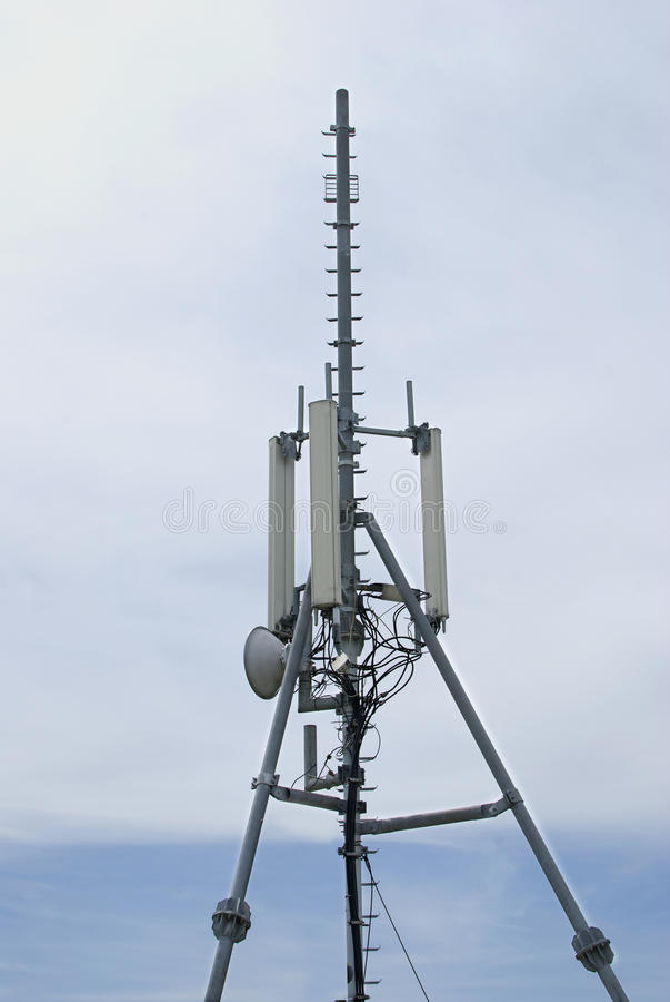 Radio draadloze antennes royalty-vrije stock fotografie