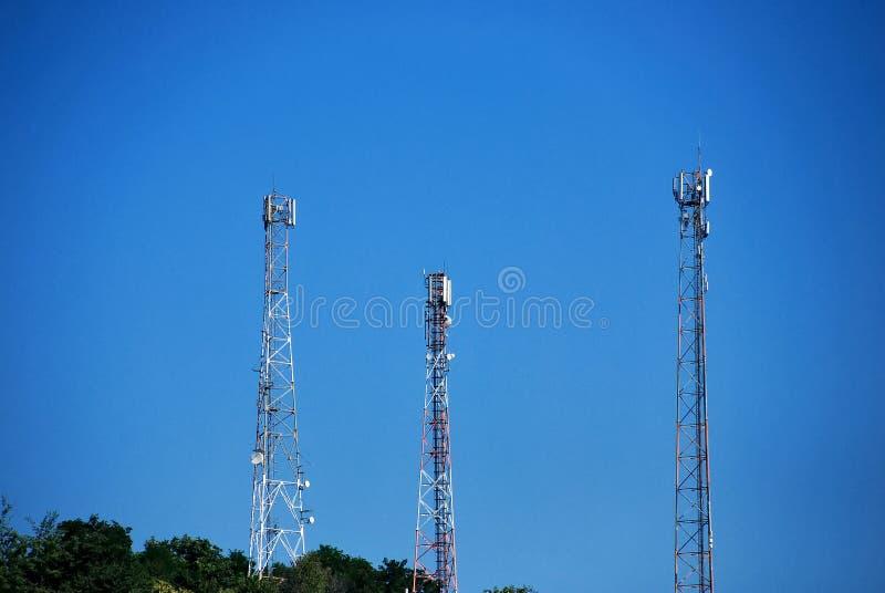 Radio draadloze antennes royalty-vrije stock afbeelding