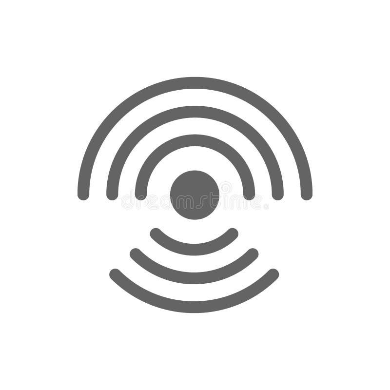 Radio en wifilijnpictogram royalty-vrije illustratie