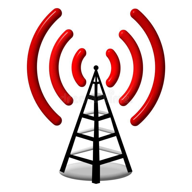 radio för antenn 3d stock illustrationer