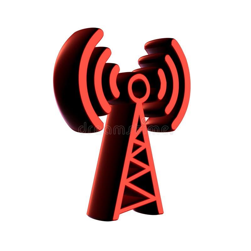 radio för antenn 3d vektor illustrationer