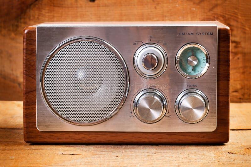Radio för tappning AM/FM royaltyfri foto