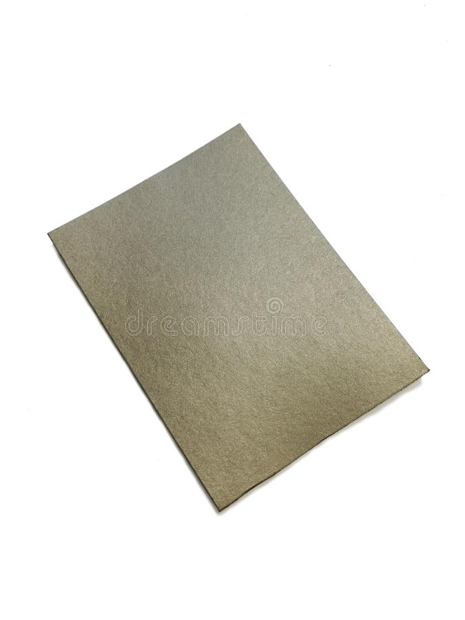RF absorber material sheet isolated on the white background. Radio frequency and electromagnetic emissions absorbing material sheet for solving EMC issues stock photo