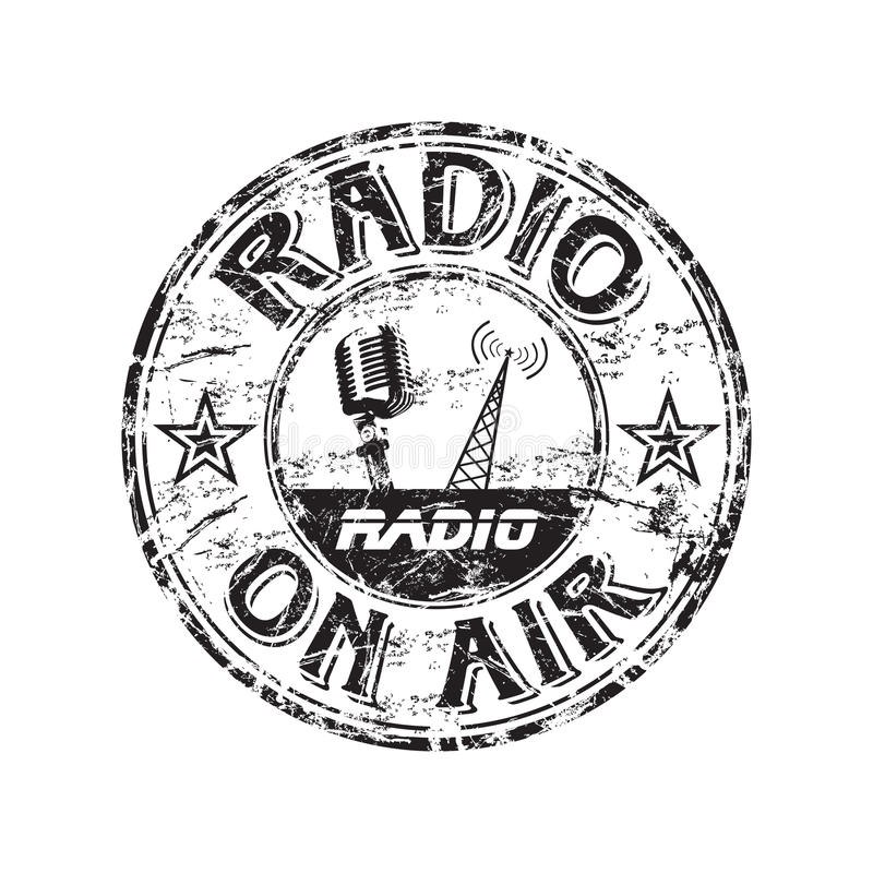 Free Radio Grunge Rubber Stamp Stock Photography - 10605542