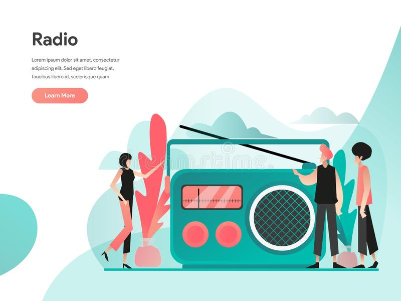 Radio Illustration Concept. Modern flat design concept of web page design for website and mobile website.Vector illustration EPS vector illustration