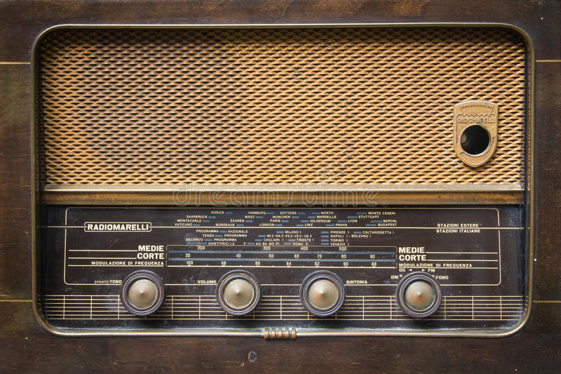 Radio italienne de vintage image stock