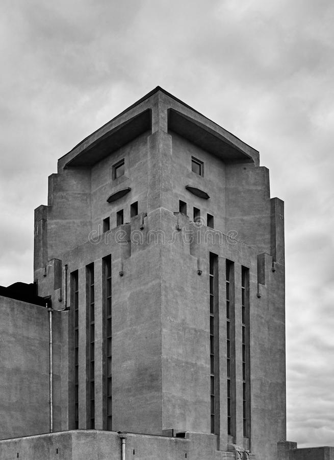 Radio Kootwijk-Gebäudeturm stockbilder