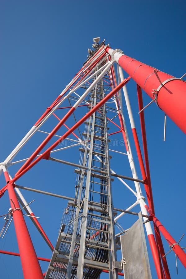 Free Radio Mast Against Blue Sky Royalty Free Stock Images - 2499259