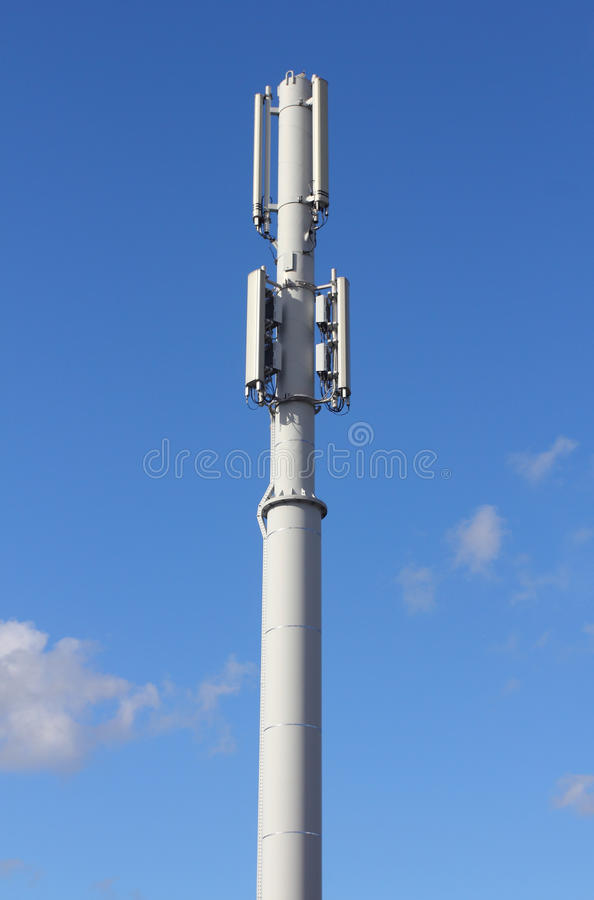 Radio mast. Mobilphone mast with a blue sky in the background royalty free stock images