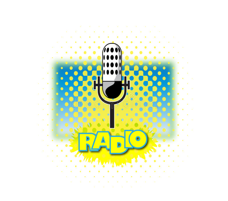 Radio Microphone royalty free illustration