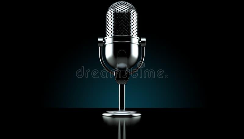 Radio microphone vector illustration