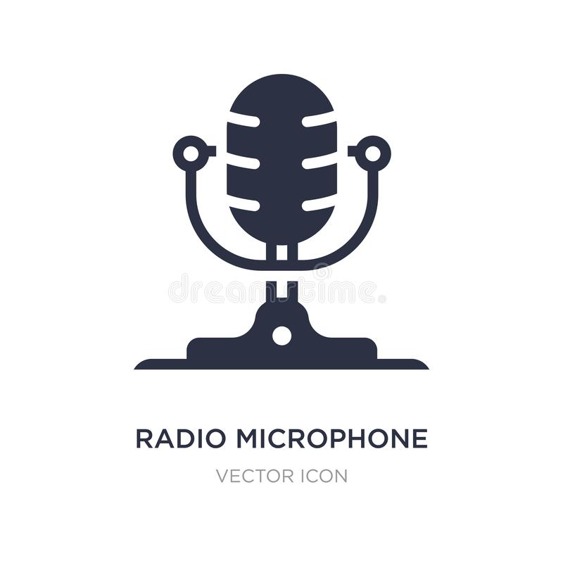 Radio microphone icon on white background. Simple element illustration from Technology concept. Radio microphone sign icon symbol design royalty free illustration