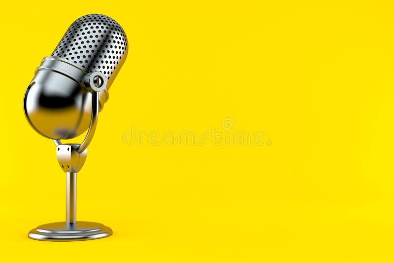Radio microphone royalty free illustration