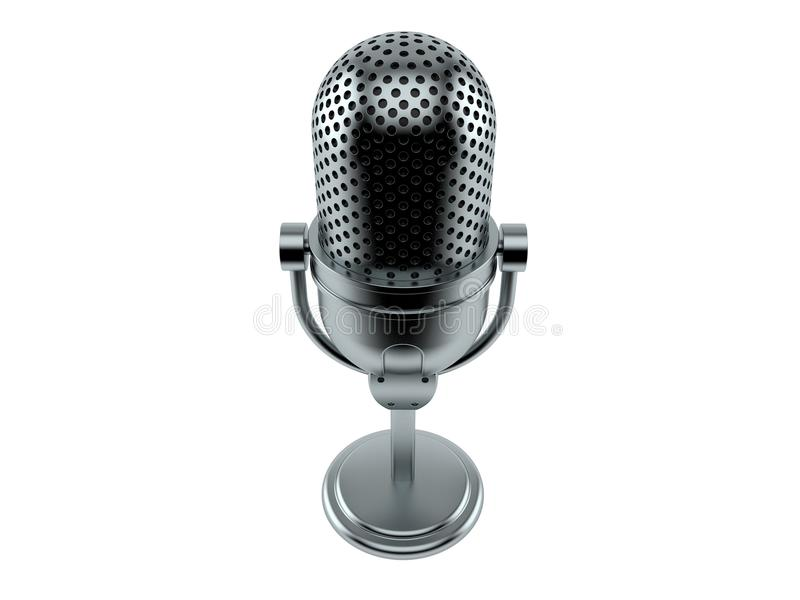 Radio microphone. Isolated on white background. 3d illustration vector illustration