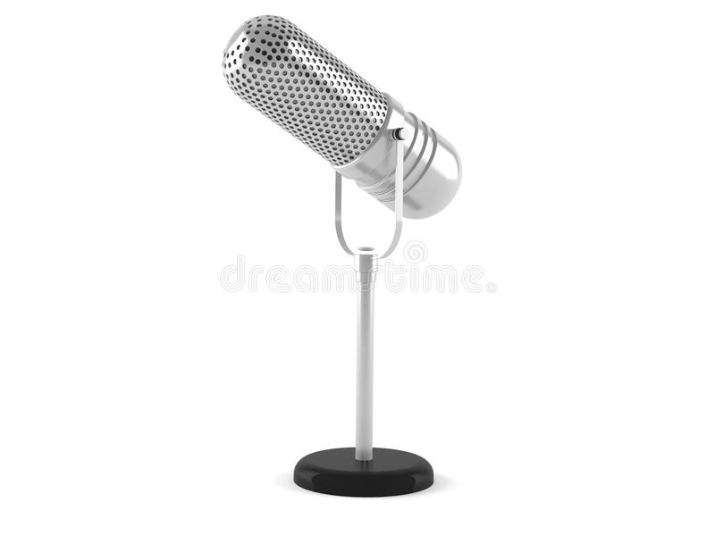 Radio microphone. Isolated on white background vector illustration