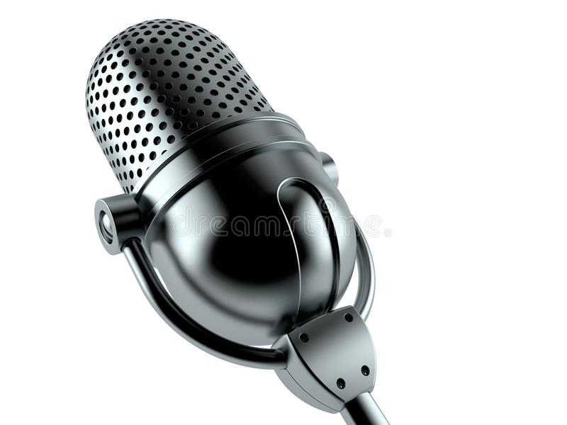 Radio microphone. On white background. 3d illustration vector illustration