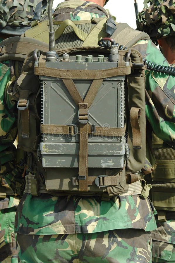 Radio militaire photo libre de droits
