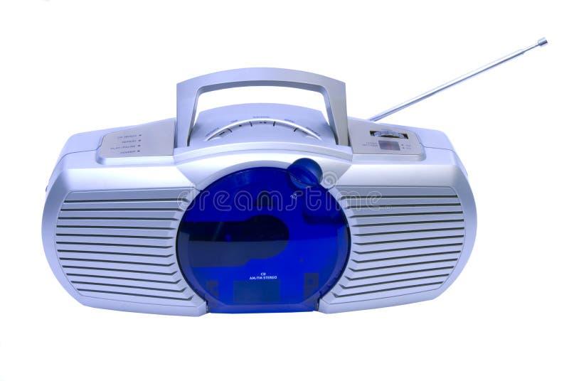 Radio moderna e riproduttore di CD fotografia stock
