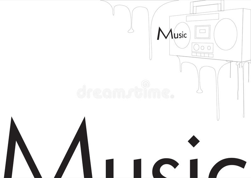 Download Radio with music stock vector. Image of classic, audio - 17648145