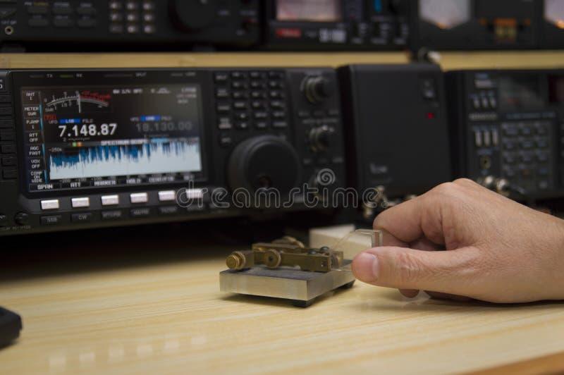 Radio Telegraphy Operator stock photography