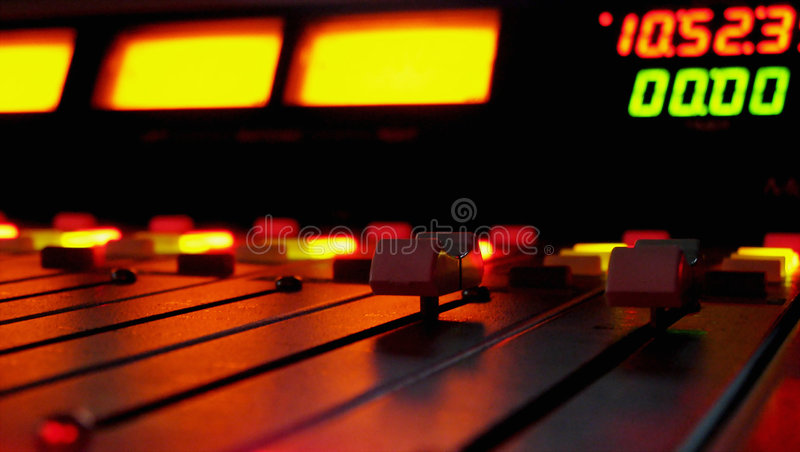Radio par Night images stock
