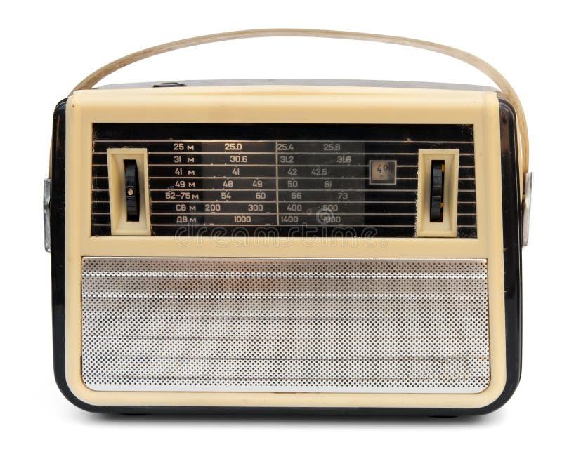 Radio portable retra fotografía de archivo libre de regalías