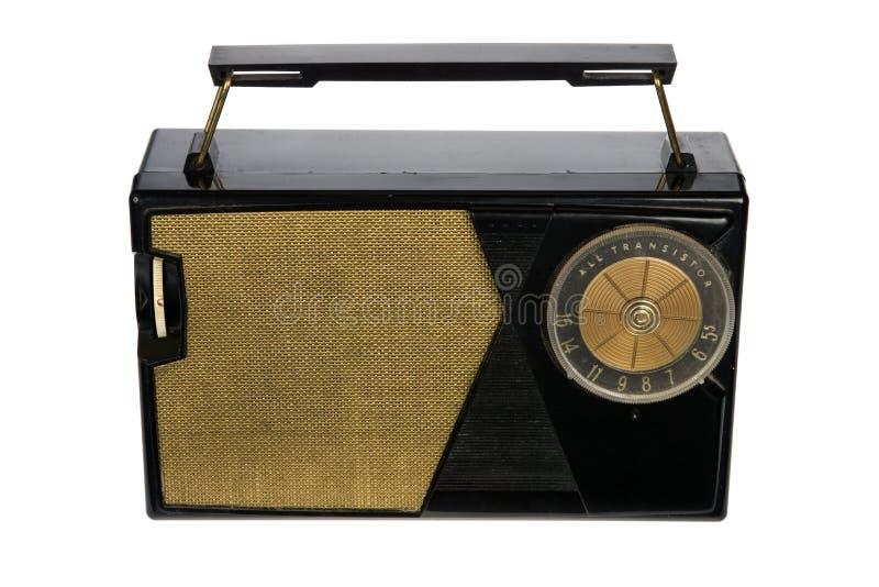 Radio portatile della retro annata immagine stock