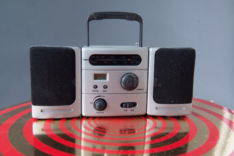 Radio portatile di retro stile dell'artificiere del ghetto fotografia stock