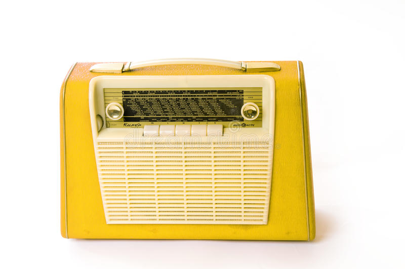 radio portative rétro photo stock