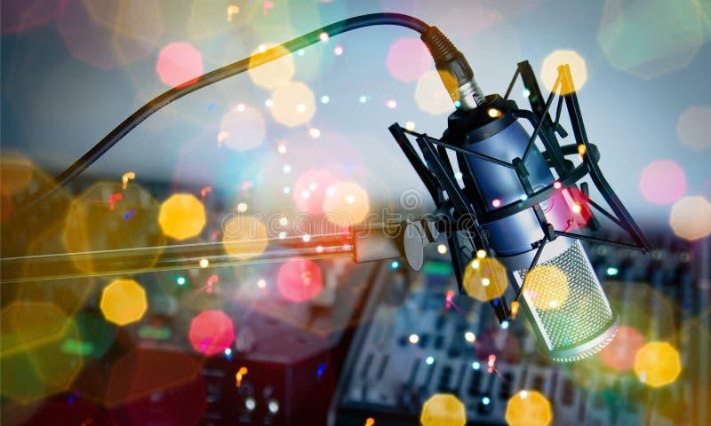 Radio. Recording Studio Studio Microphone Sound Audio Equipment The Media stock images
