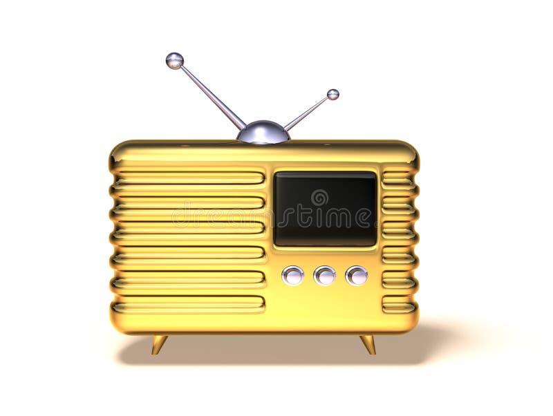 Radio retra ilustración del vector