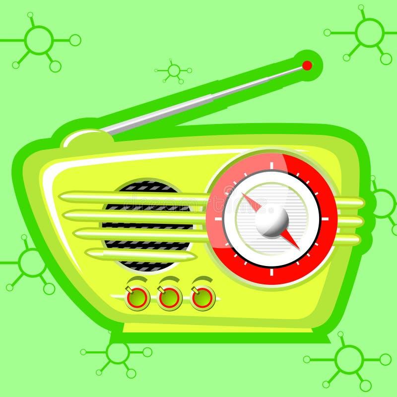 Radio retra stock de ilustración