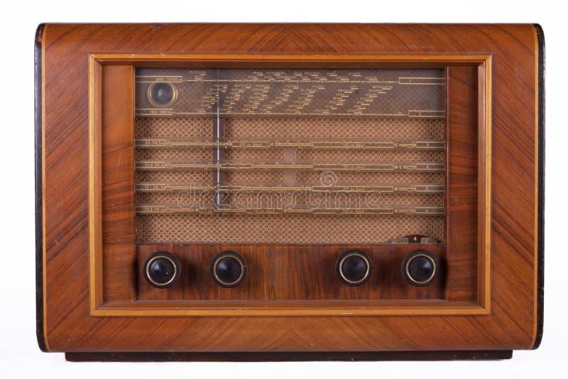 Radio retra de madera vieja del tubo de la tabla foto de archivo libre de regalías