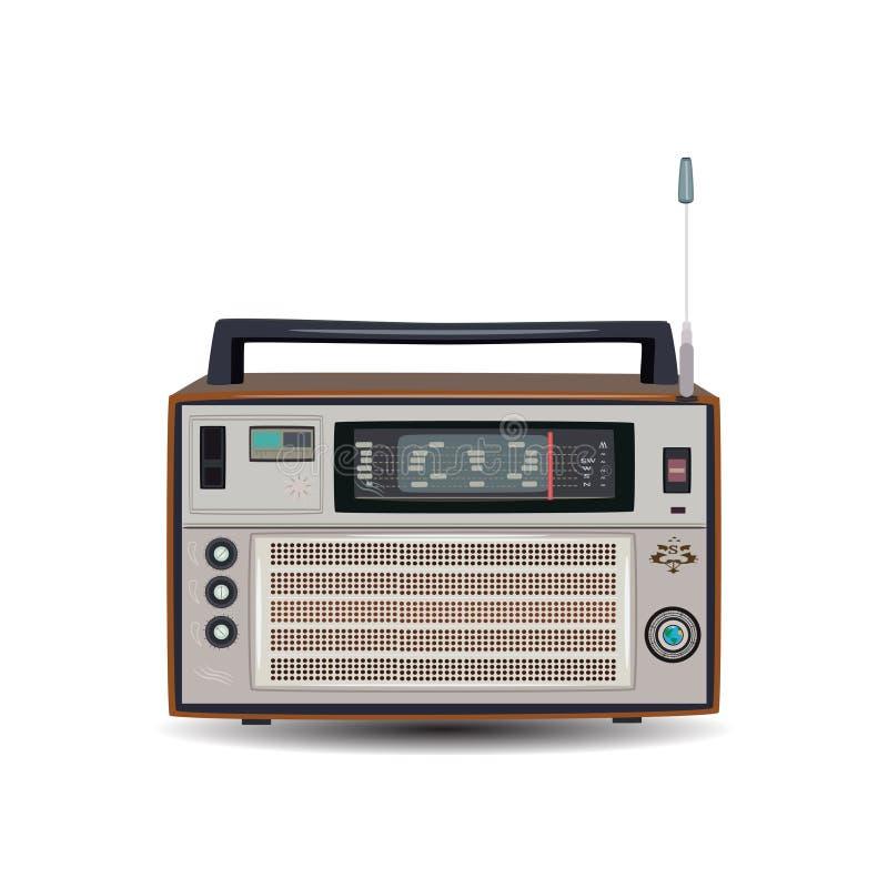 Radio retra, ejemplo del vector en estilo plano libre illustration