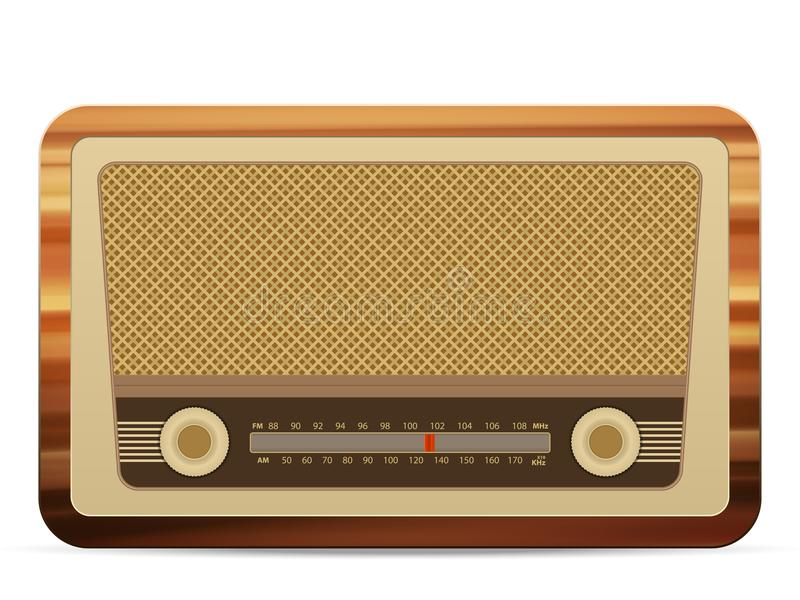 Radio retro stock illustratie