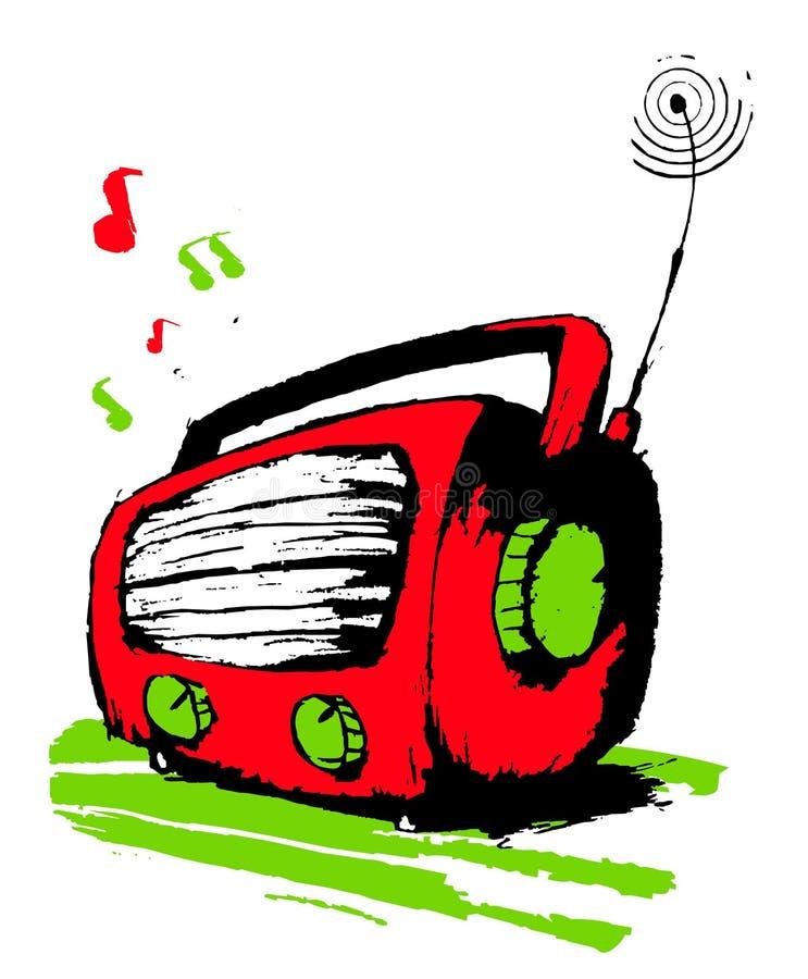 Radio rossa. illustrazione vettoriale