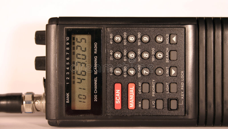 Radio Scanner stock image