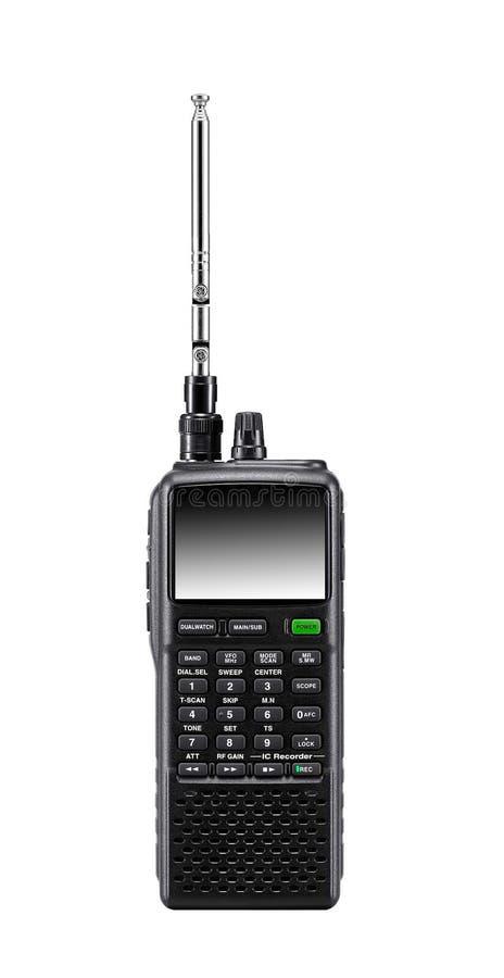 Radio set. Isolated on white background stock photo