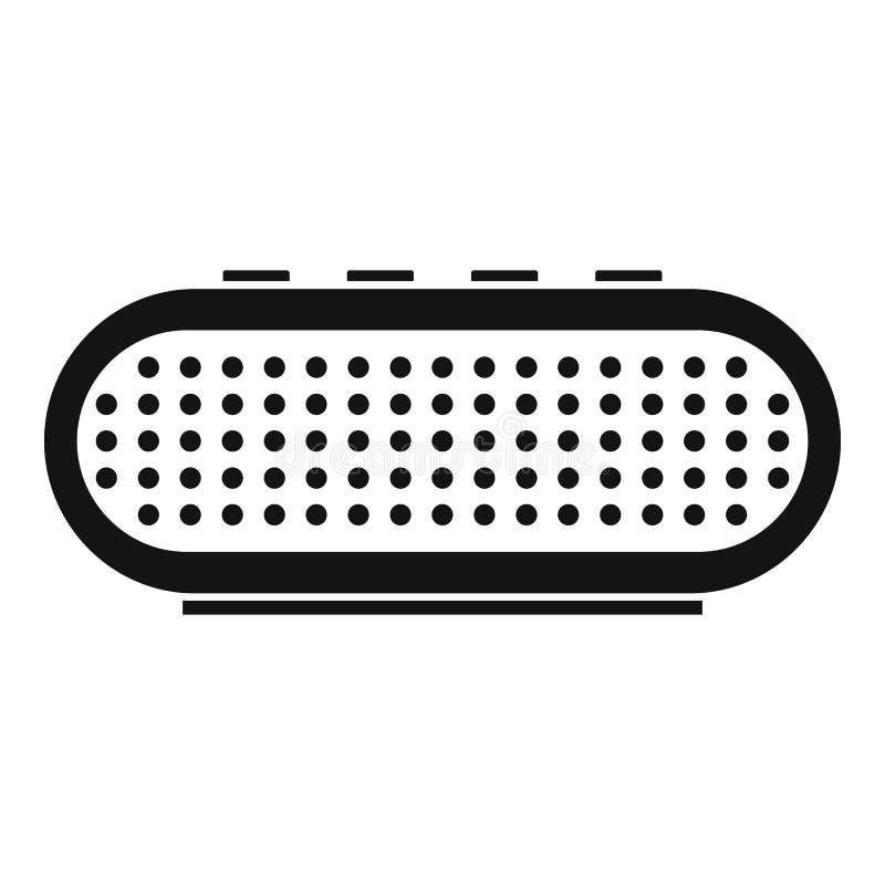 Radio smart speaker icon, simple style stock illustration