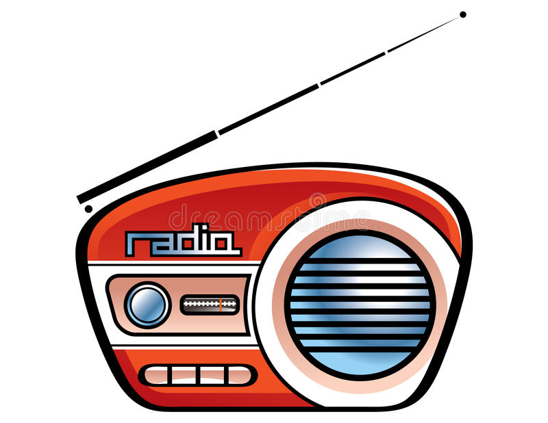 Radio spreker royalty-vrije illustratie