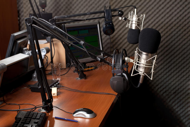Radio station stock photo