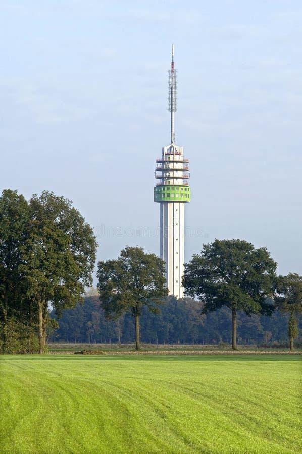 Radio Station Markelo, Netherlands. Netherlands, province Overijssel, region, region Twente village Markelo [municipality Hof van Twente]: The radio tower of stock photography