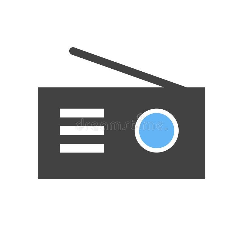 Radio stereo, musik royaltyfri illustrationer