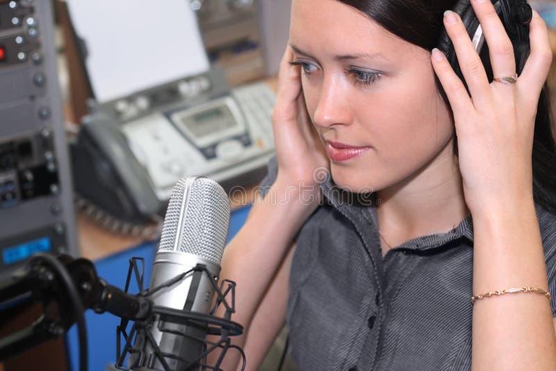 In radio studio royalty free stock image