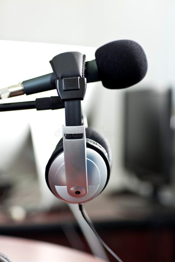 Radio studio. Art audio abstract royalty free stock photo