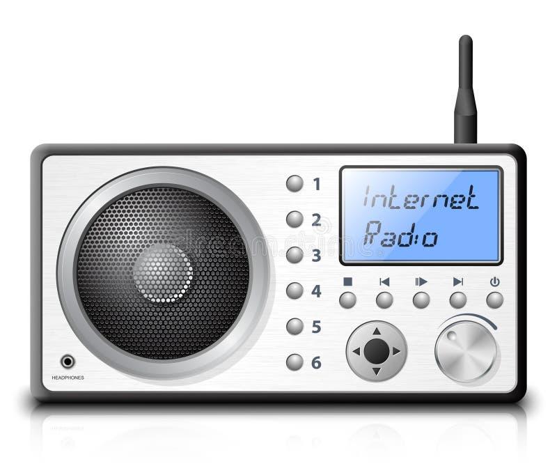 Radio su Internet di vettore illustrazione vettoriale