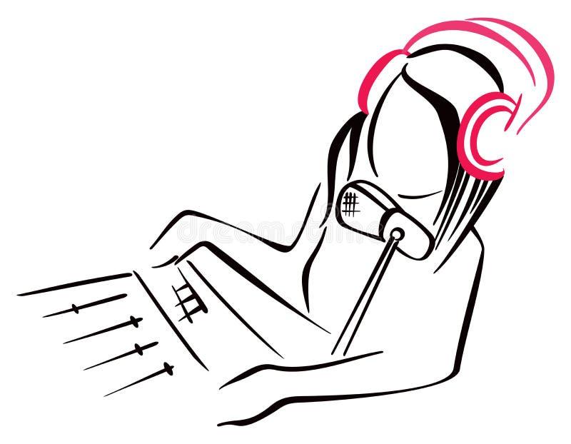 Radio symbol vector illustration