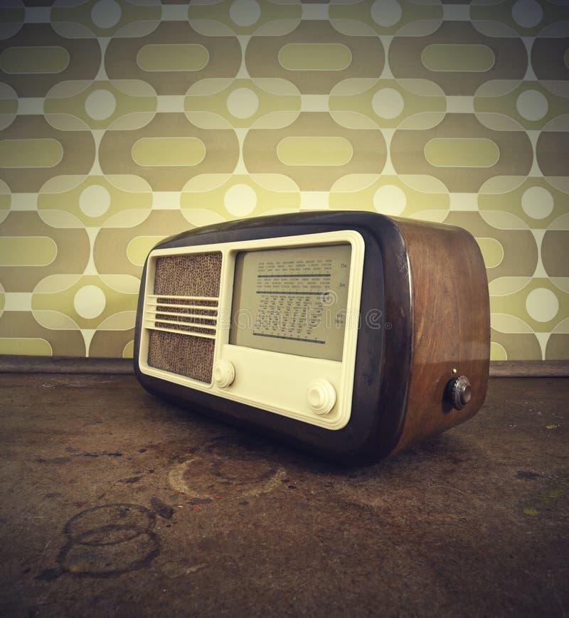 radio tappning royaltyfri bild